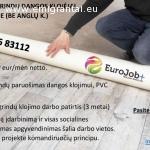 Darbas PVC grindų dangos klojėjams (be anglų k.)
