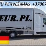 Galim paimti krovinius / siuntas iš Vokietijos į LIETUVA ( Leipcigas / Berlynas / Drezdenas / Frankfurtas / Niurnbergas ) Galime parvežti jūsų siuntas, krovinius, baldus, buitine technika, motociklus, kubilus, pirtis, įrengimus, medžiagas ir t.t. www.voris.lt