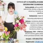 Gėlių puokščių ir kompozicijų dekoravimas
