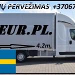 Įmonių ir gyventojų turto perkraustymas (perkraustymo paslaugos) Lietuva / Švedija