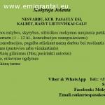 Lietuviu kalbos mokytoja internetu