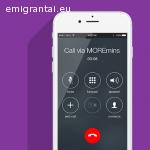 Pigūs skambučiai į Lietuvą su MOREmins app